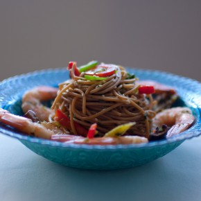 Spicy Noodle Salad with Shrimp