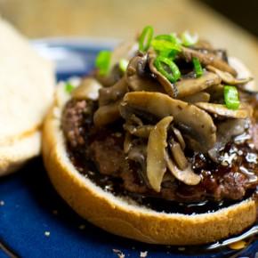 Teriyaki Mushroom Bison Burgers