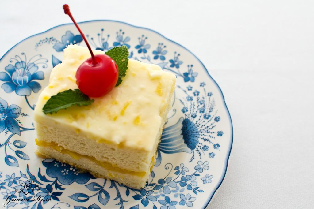 Peach Bavarian Cake