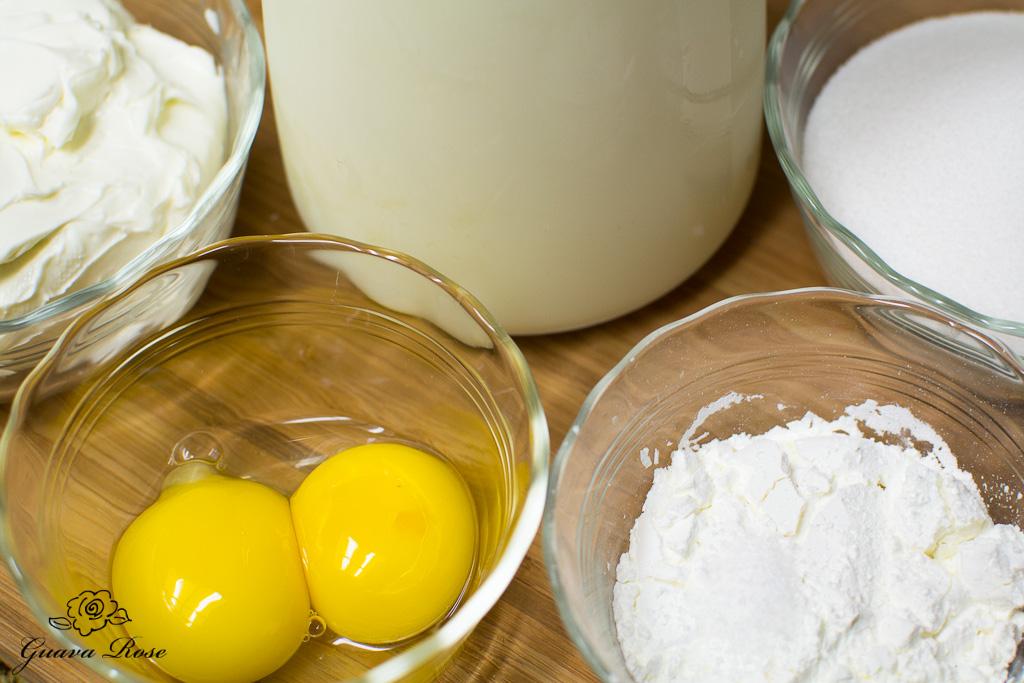 Cream cheese custard ingredients