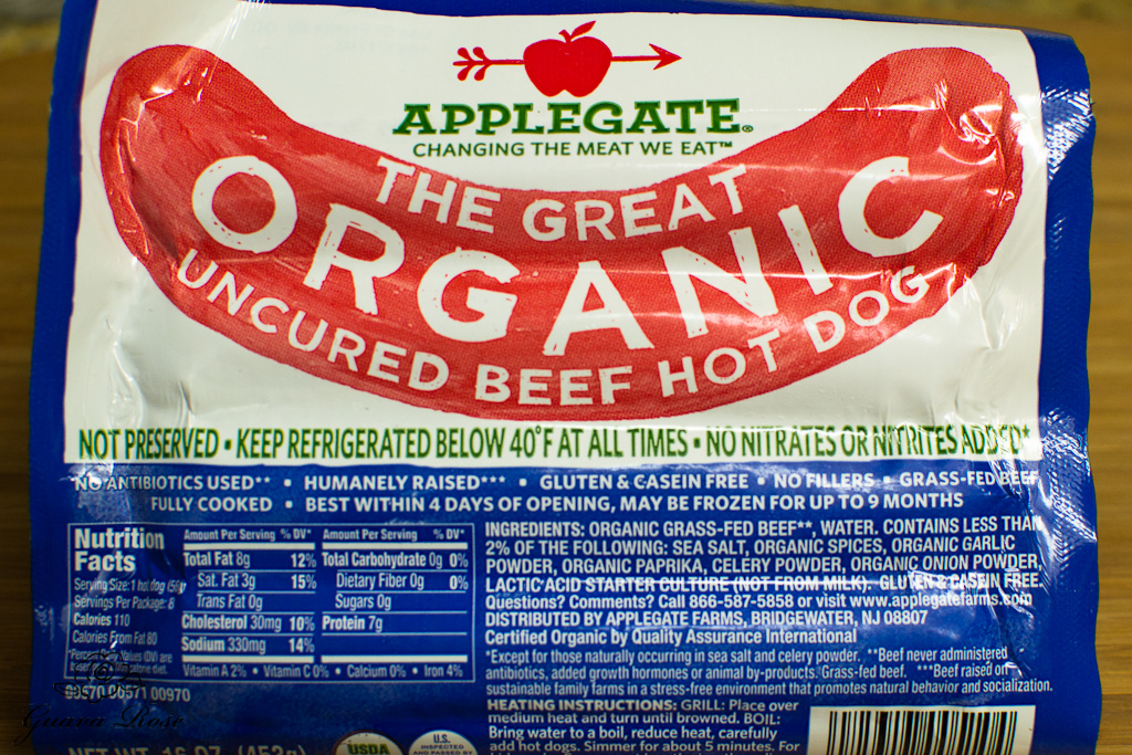 Organic nitrate free hot dogs