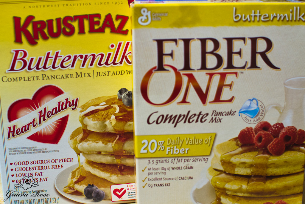 reduced fat, high fiber pancake mix