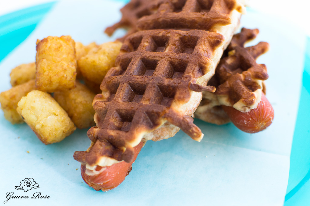 Waffle dogs with tater tots