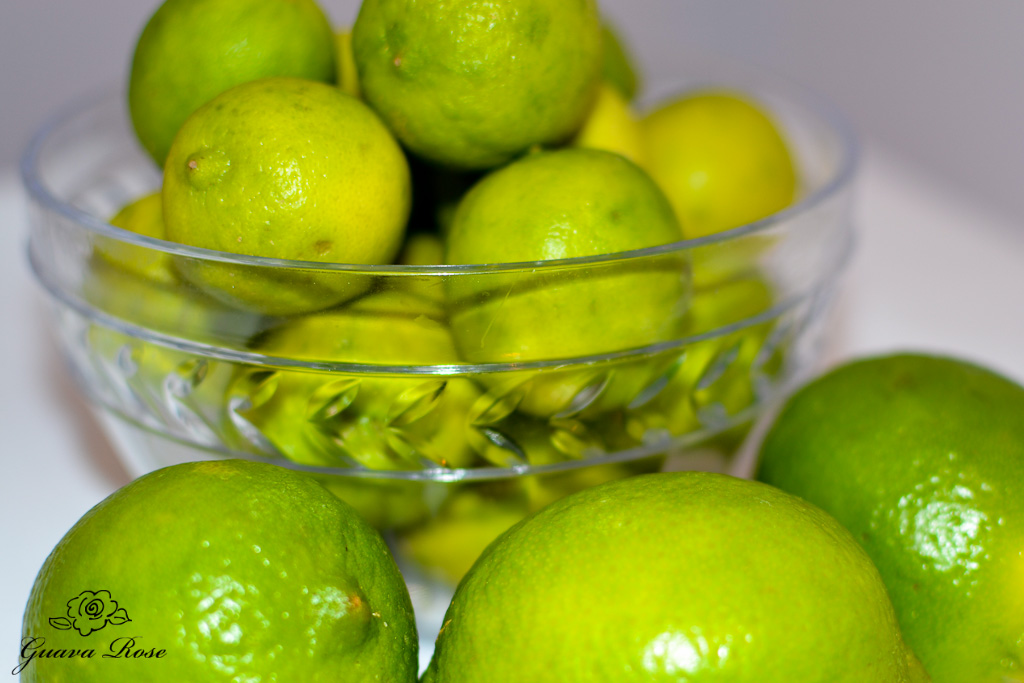Bowl of key limes and regular limes