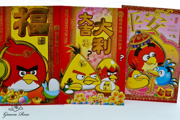 Li see envelopes, Angry birds
