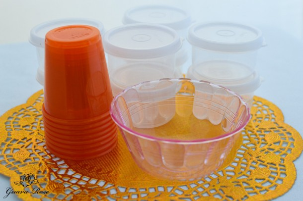 Cups for inside chinese candy holder