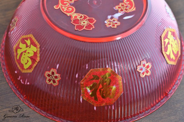 Chinese candy holder, lid, first gluing dried