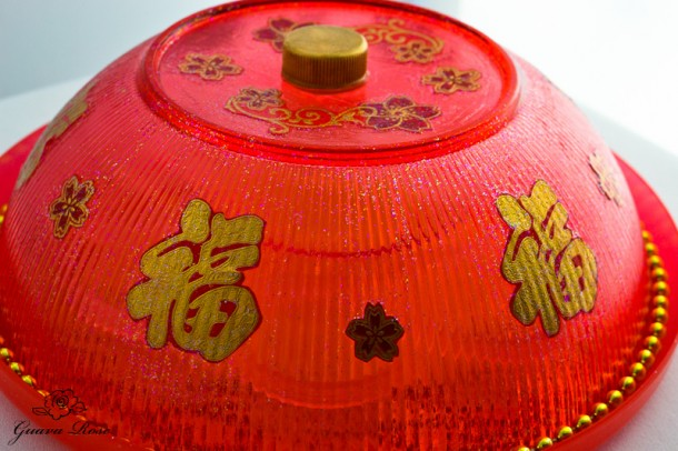 Chinese candy holder, front view
