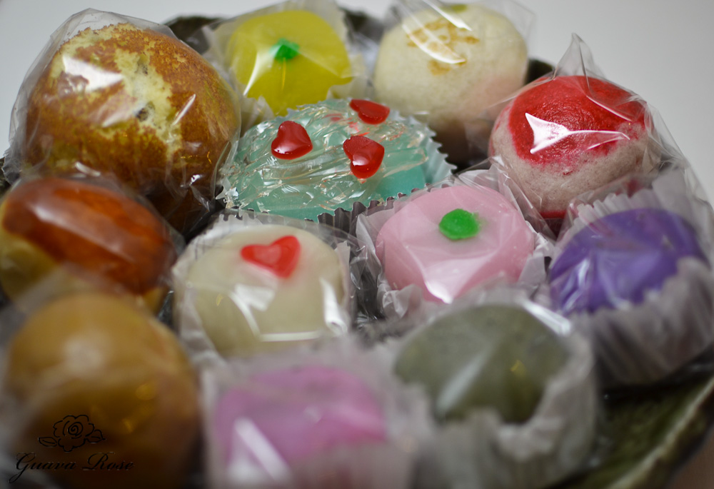 Assorted mochi and manju wrapped