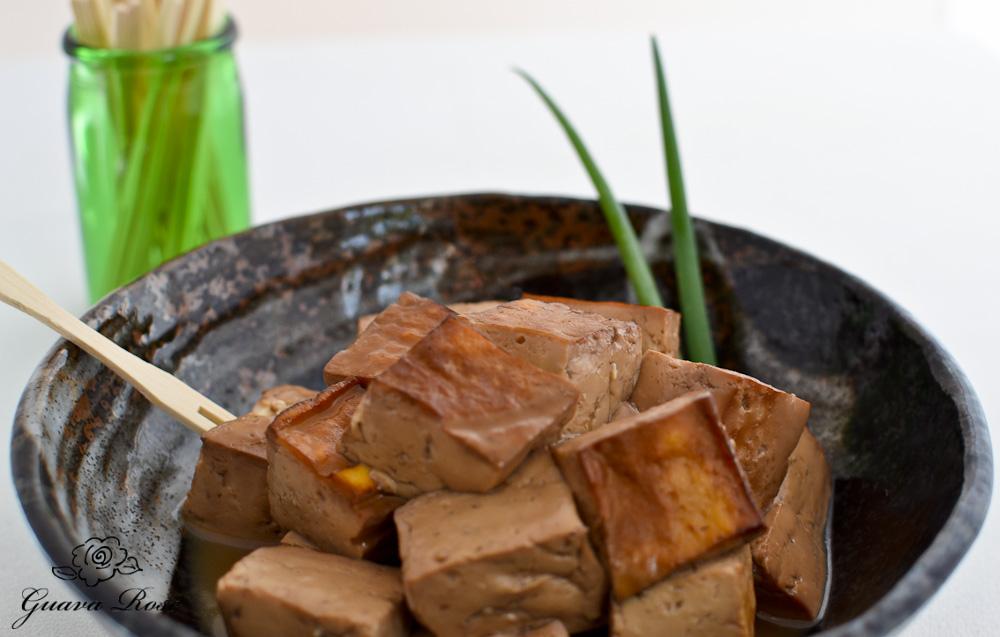 Lapsang Souchong Tofu in bowl