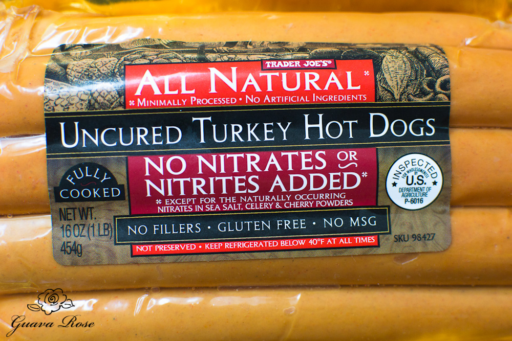 Nitrate free turkey hot dogs
