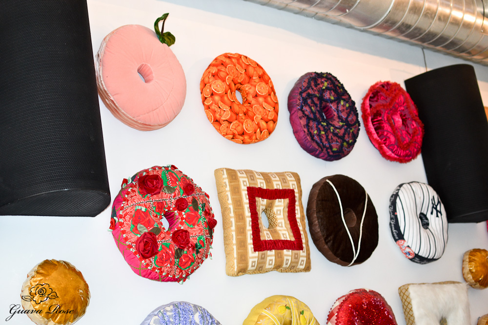 Doughnut plant donut pillow wall 1