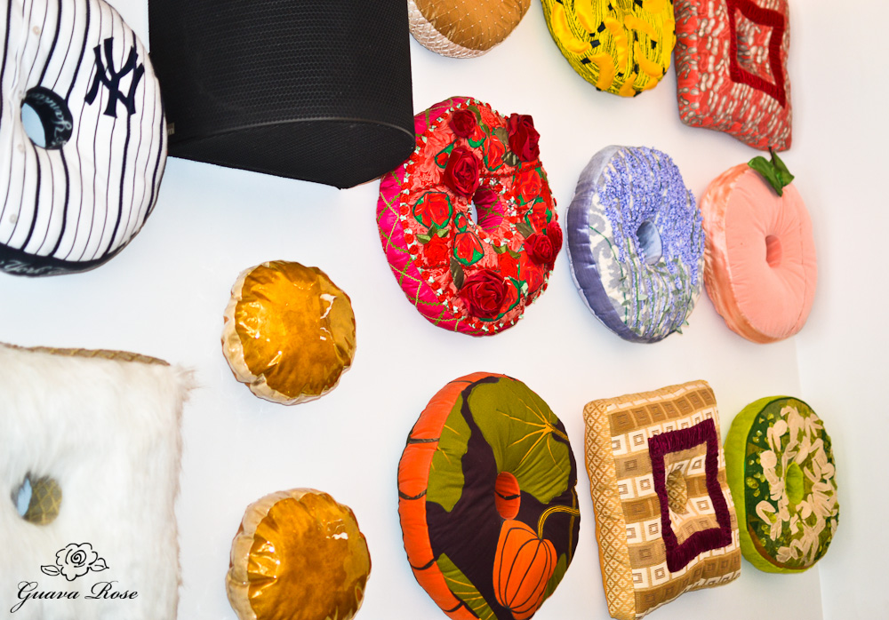 Doughnut plant donut pillow wall 2