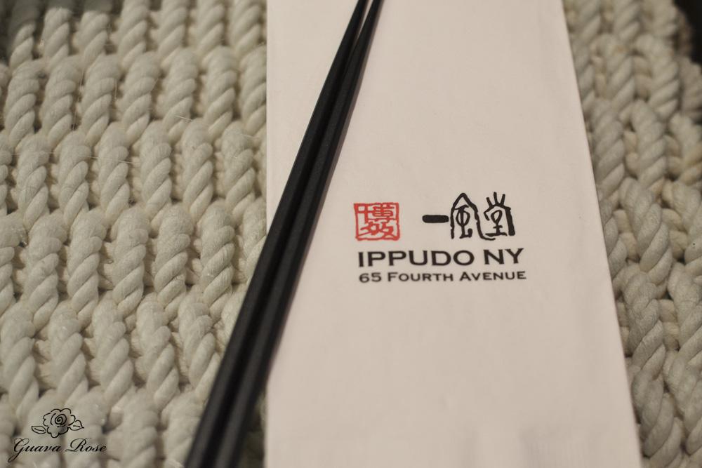 Ippudo napkin and chopsticks