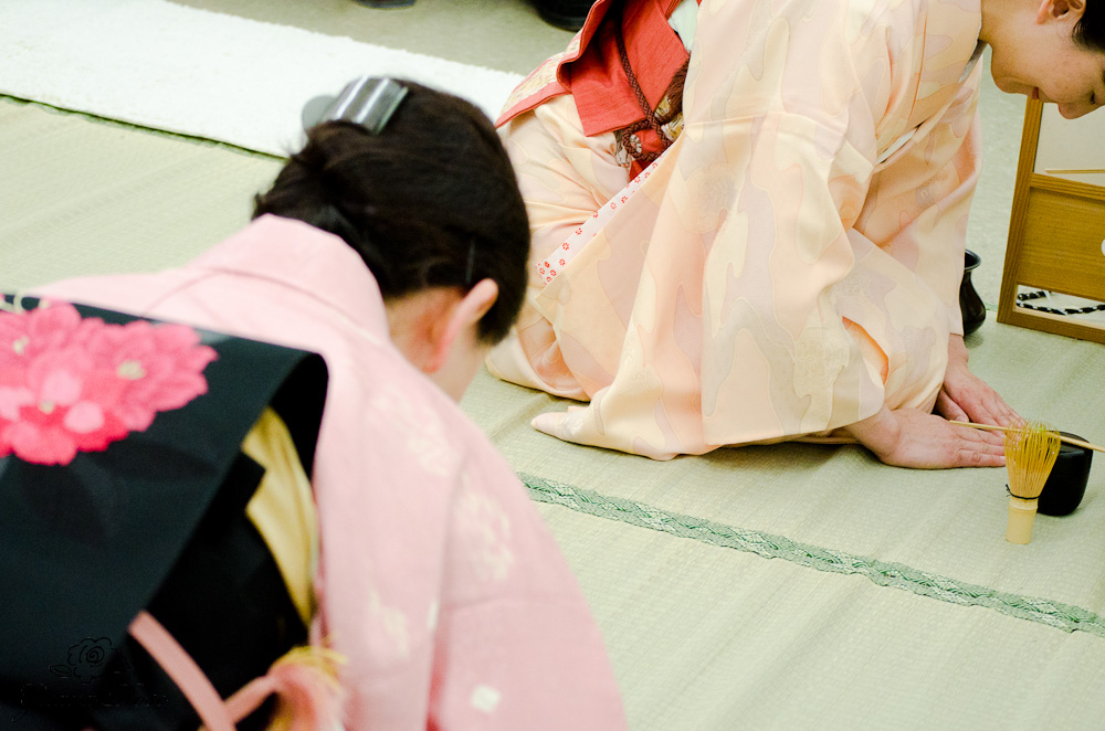Bowing during ceremony
