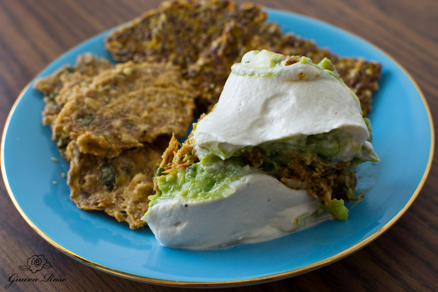 Tri-layer dip, macho nachos, flax seed thins