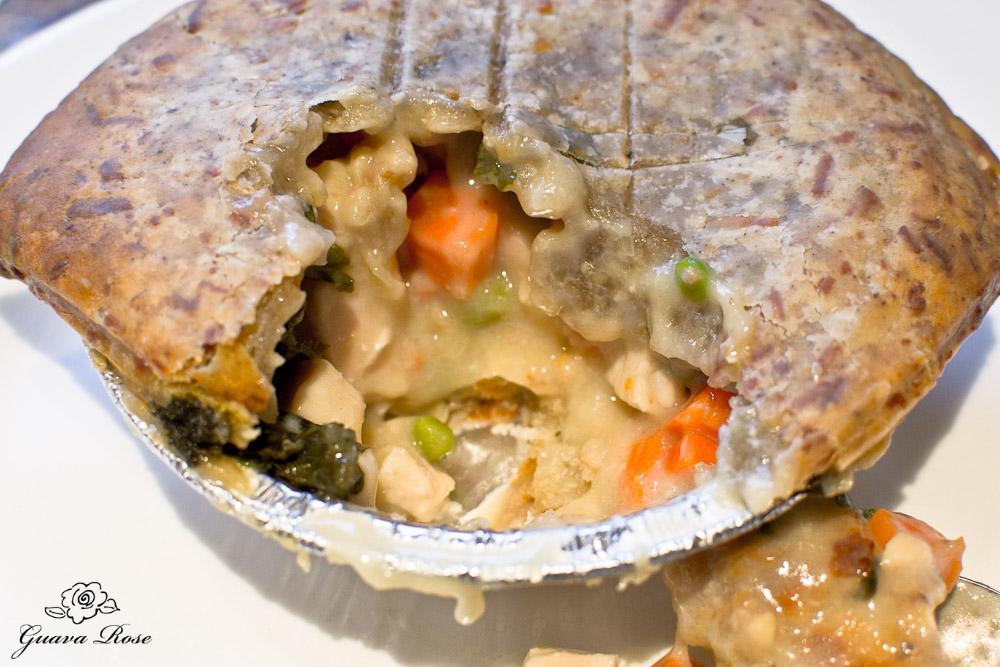 Leoda's chicken pot pie, baked