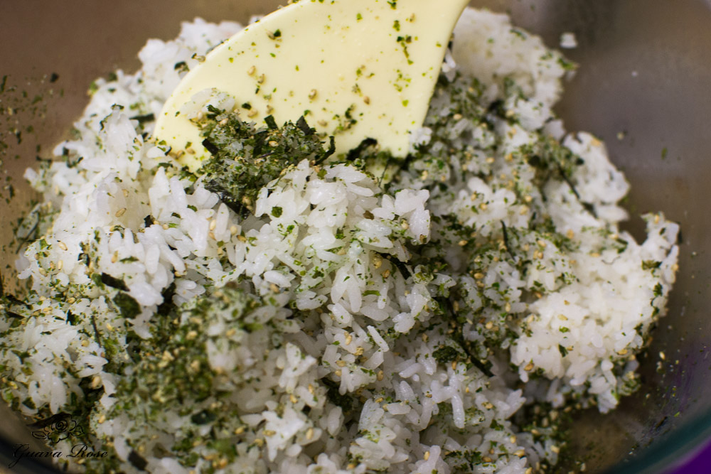 White rice with furikake