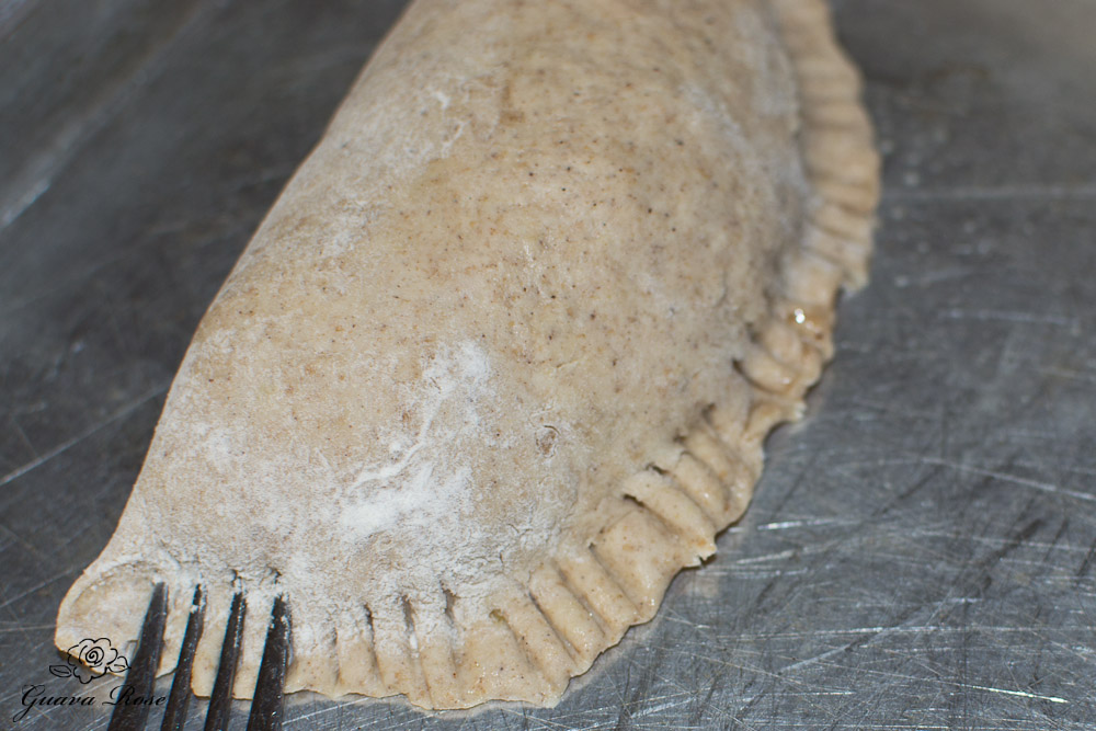 Sealing dough edges with fork tines
