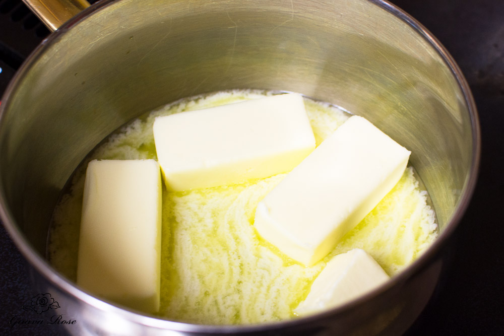 Melting butter in pot