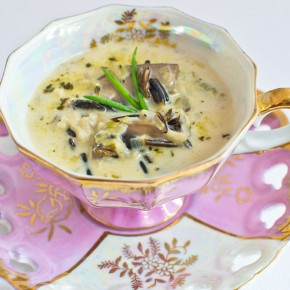 Wild Rice, Leek, and Mushroom Soup