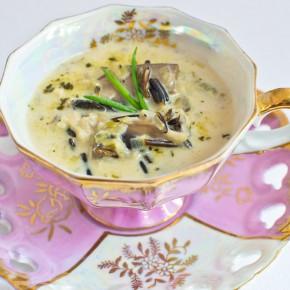 Wild Rice, Leek, and Mushroom Soup