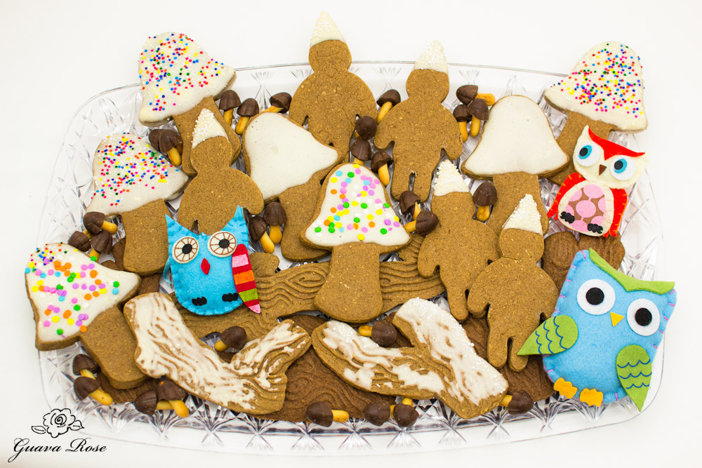 Enchanted forest cookies on tray 1