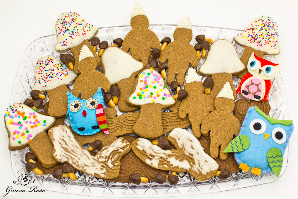 Enchanted forest cookies on tray 2