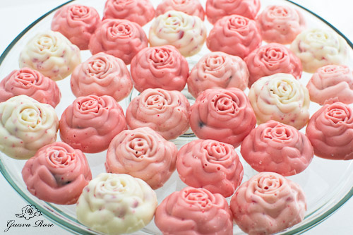Peppermint rose candies