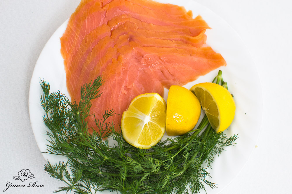 Smoked salmon, lemon,and dill