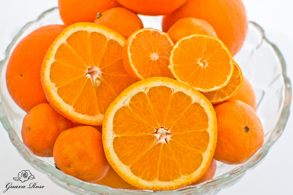 Bowl of oranges, tangelos and tangerines