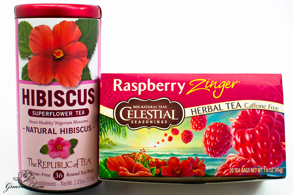 Hibiscus tea and Red zinger tea