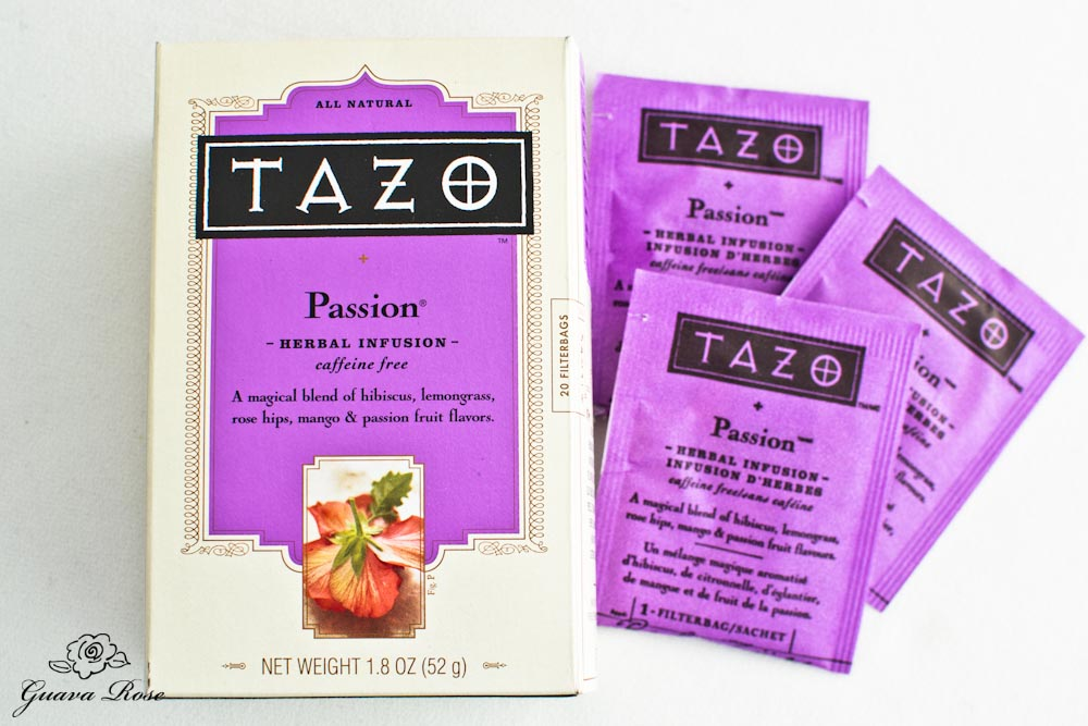Tazo Passion Tea Box and bags