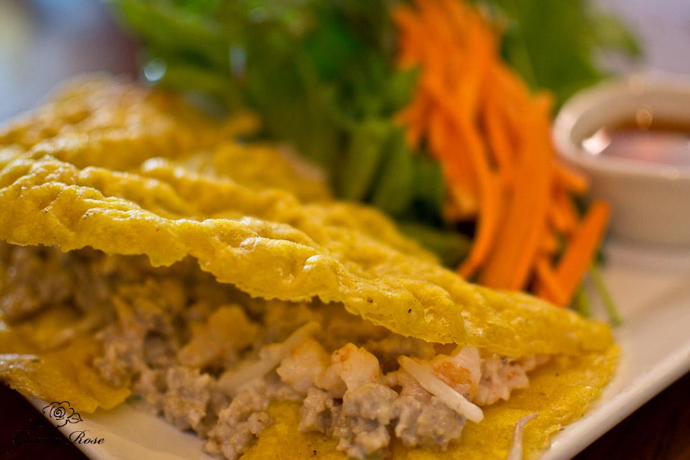 Vietnamese Crepe w/Shrimp, Pork, Bean Sprouts