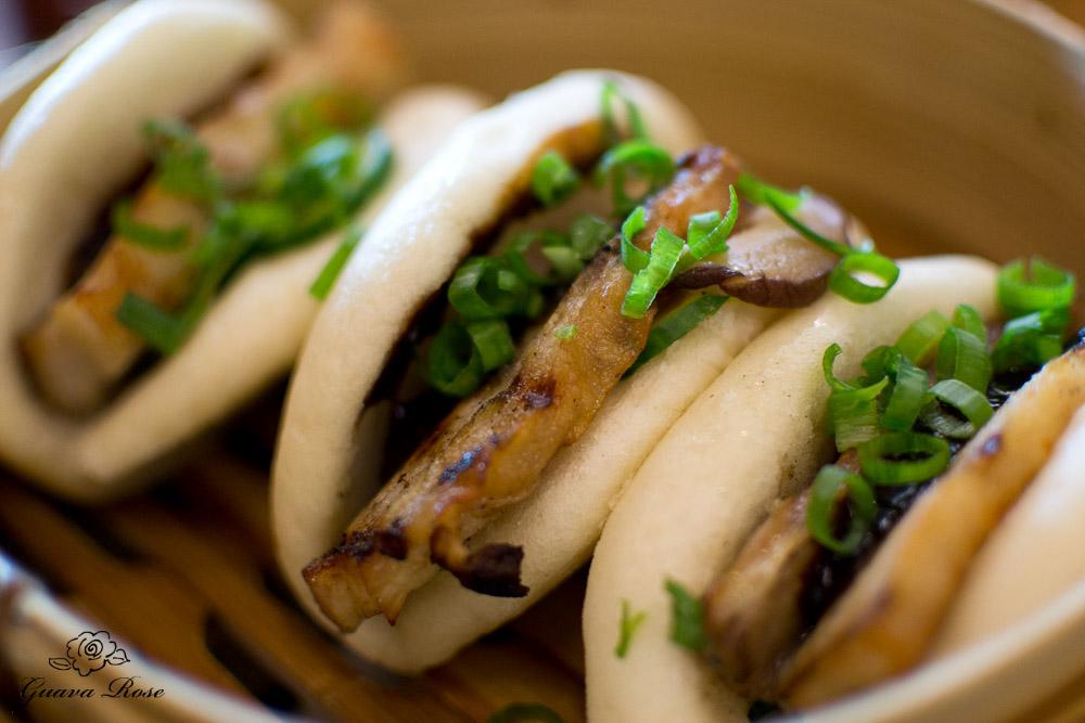 Steamed Pork Buns – Pressed Pork, Hoisin, Shiitake, Cucumber