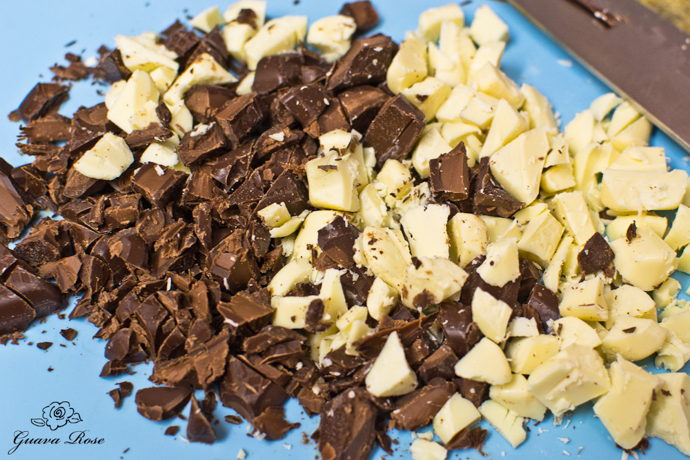 Chopped Lindt lindor truffles