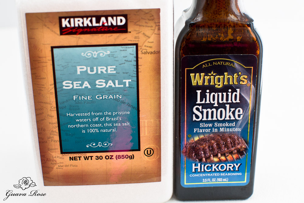 Sea salt and liquid smoke