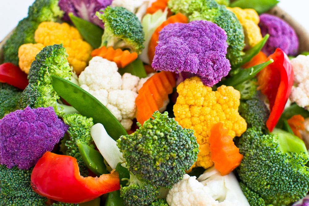 Raw vegetables, close up