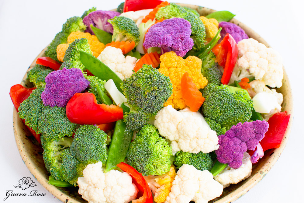 Bowl of Raw Vegetables