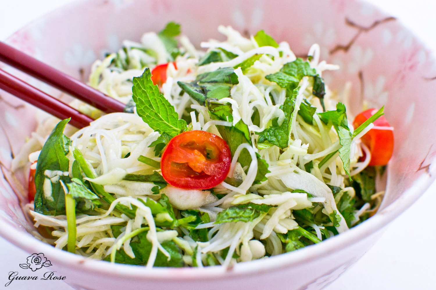 Fresh Herb Noodle Salad, w/chopsticks