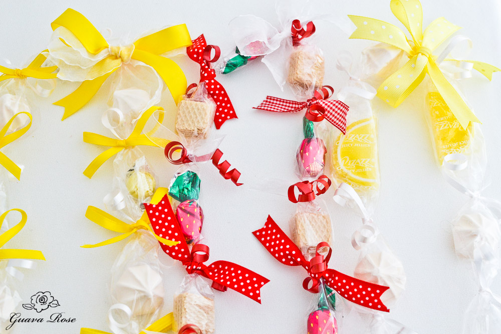 Lemon Meringue Lei and Strawberry Shortcake Lei