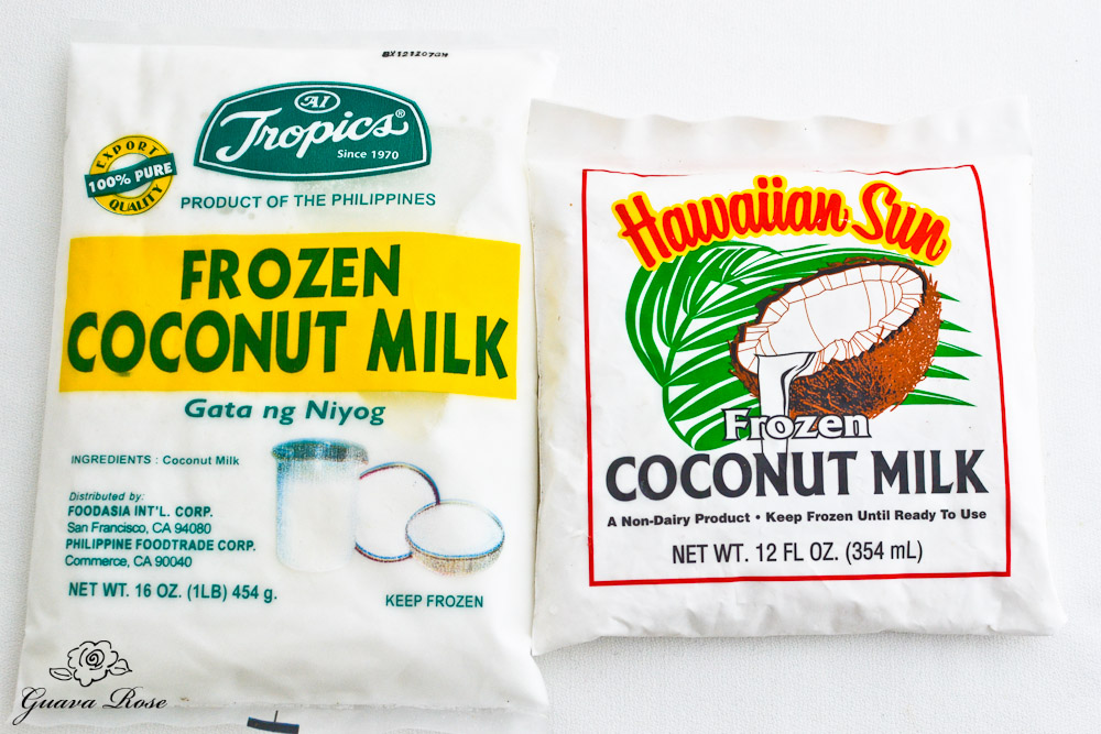Frozen coconut milk