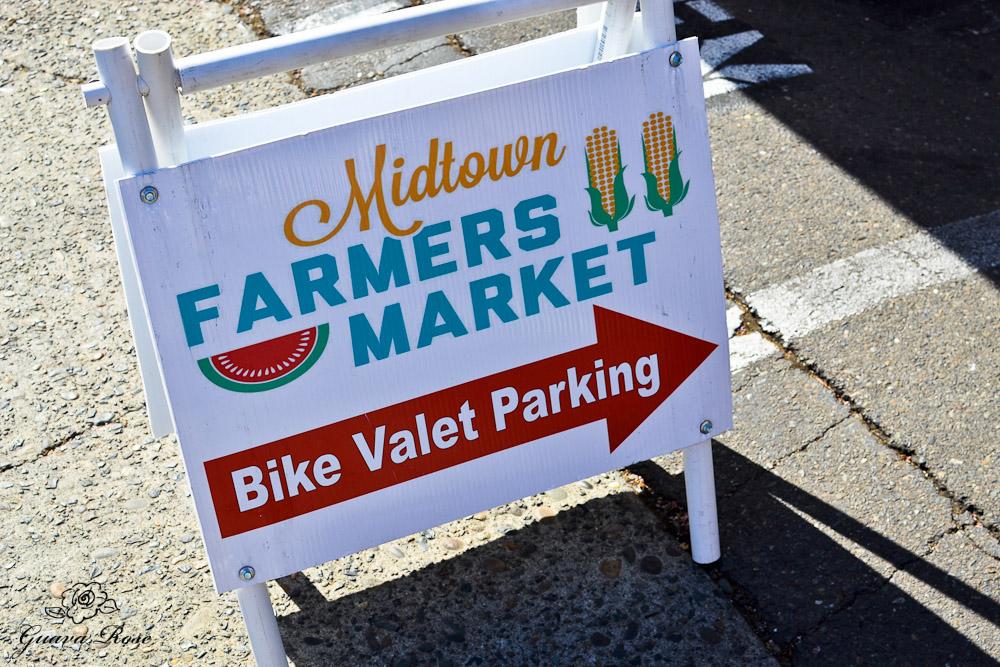 Midtown Farmer's Market Bike Valet Sign