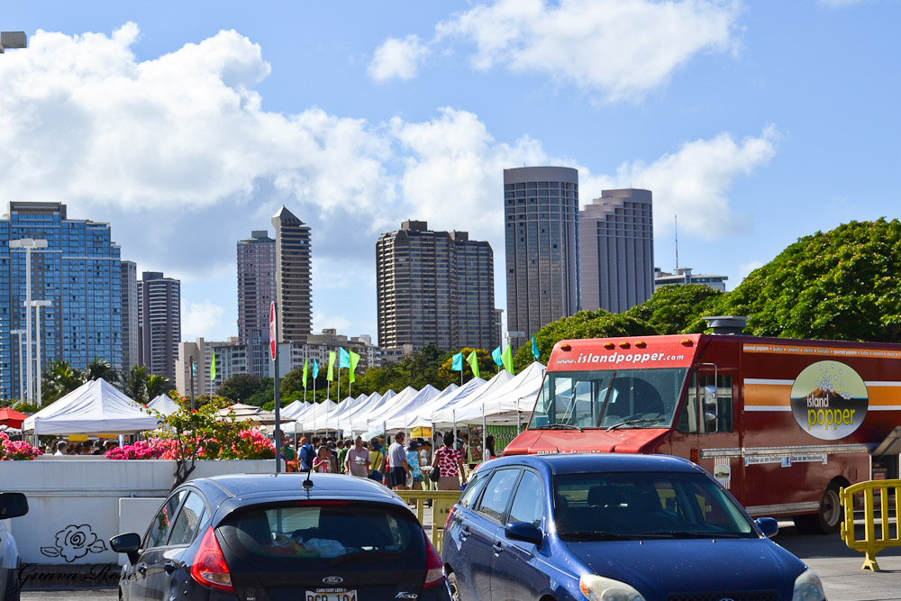View of Saturday morning Ala Moana Farmer's Market