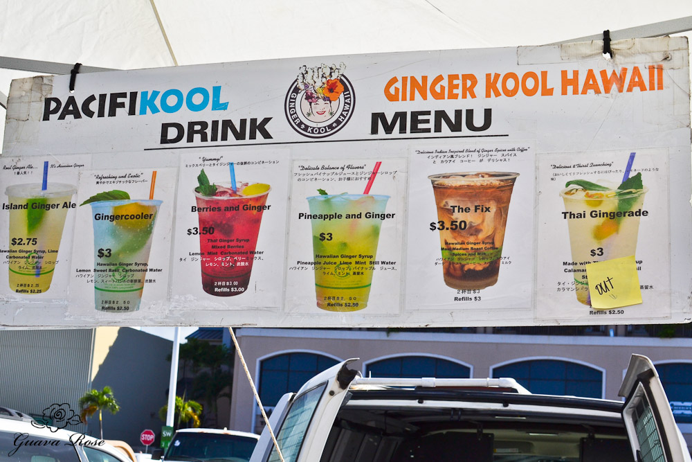 Ginger Kool Menu