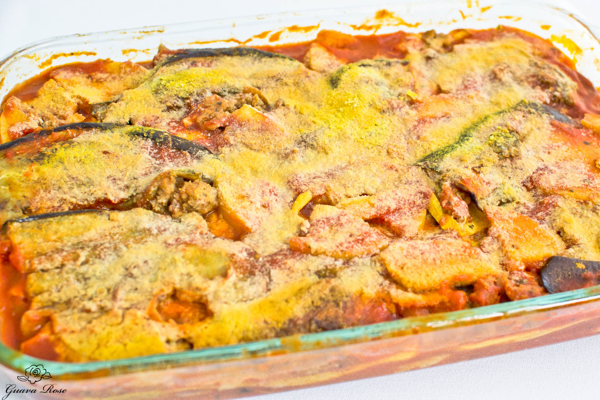 Pan of Roasted Vegetable Lasagna