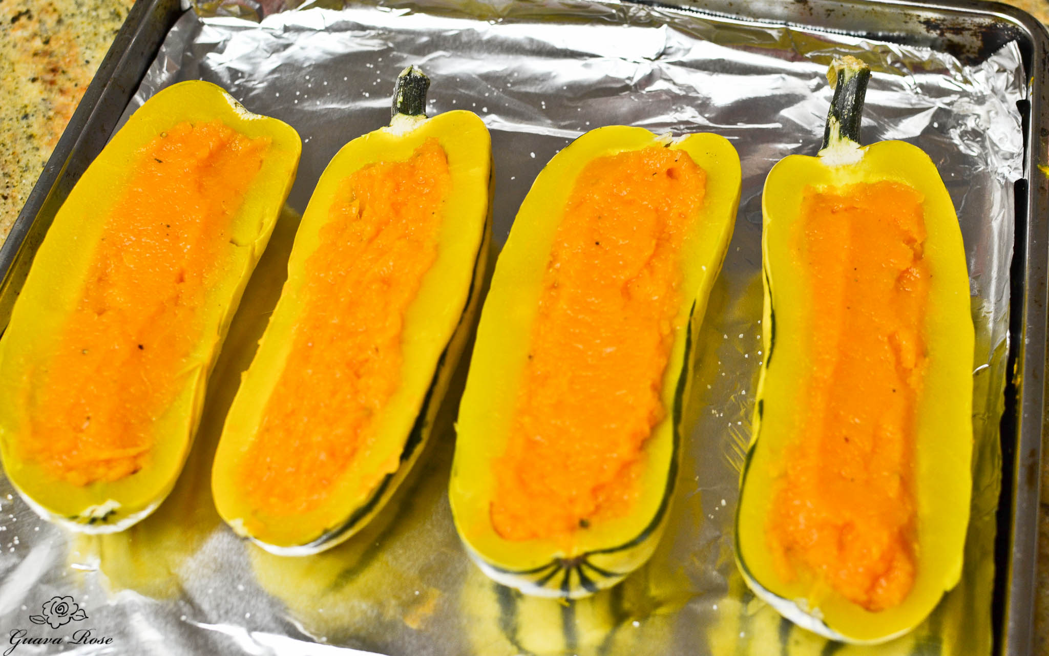 Delicata filled with butternut