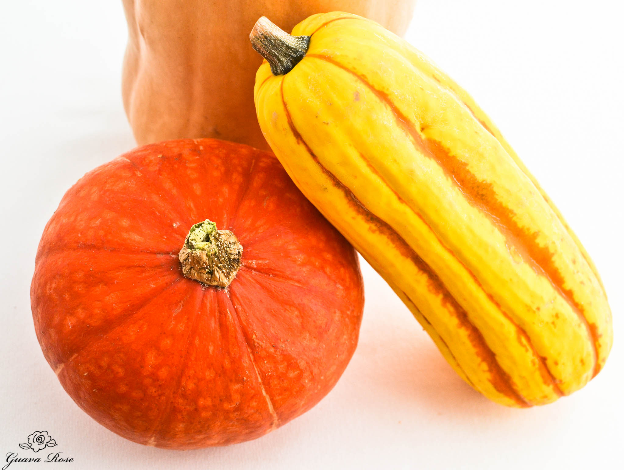 Red Kabocha,Butternut, and Delicata Squash