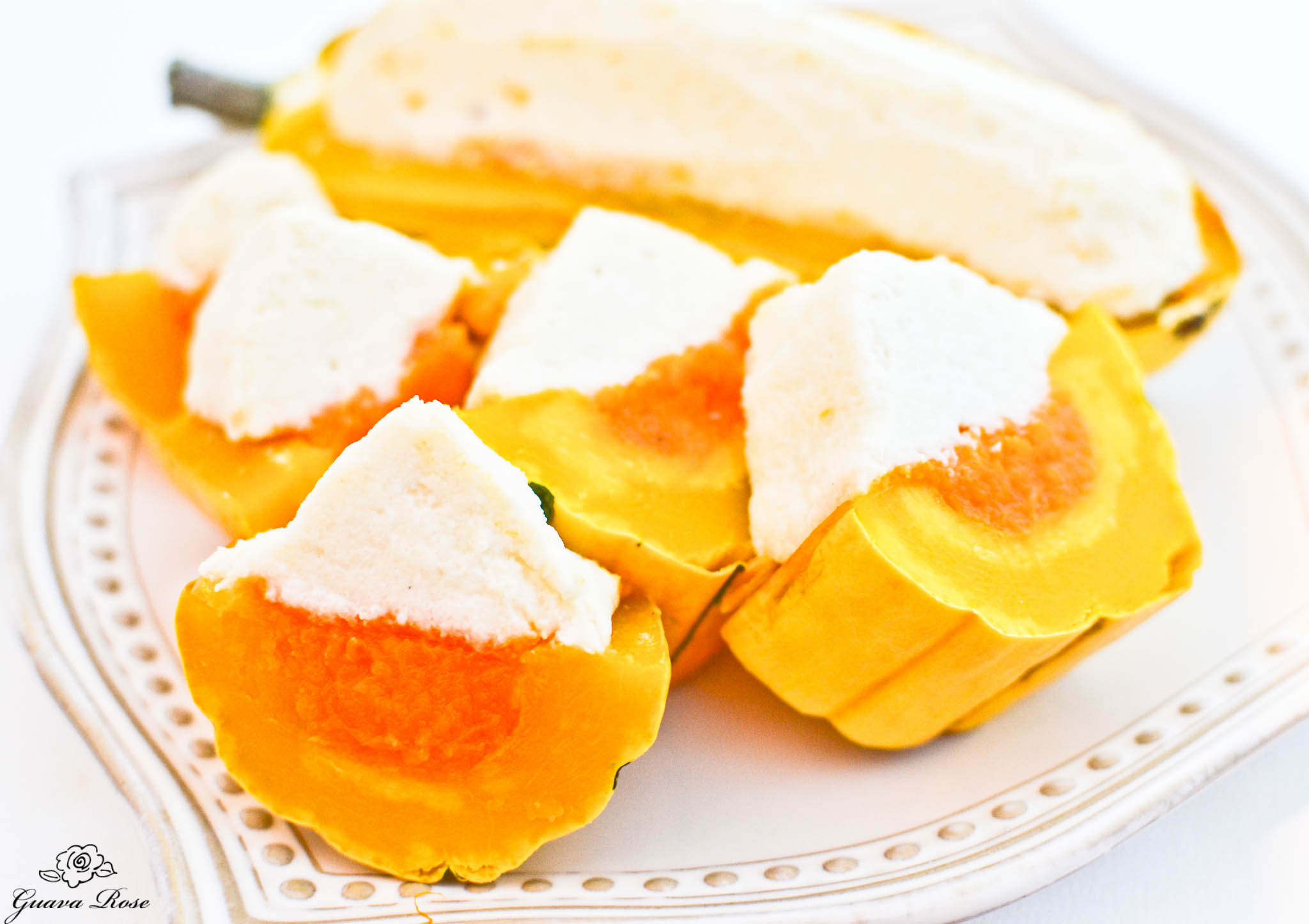 Candy Corned Squash (Delicata, Butternut, and Cauliflower) slices 1