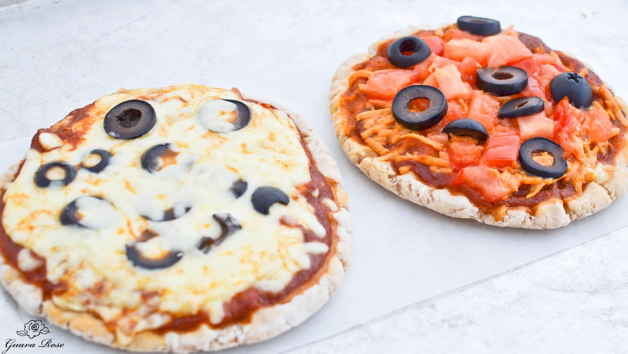 Personal size pa'i'ai pizzas